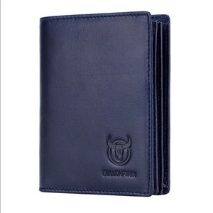 New no tags BullCaptain Leather Dark Blue Wallet